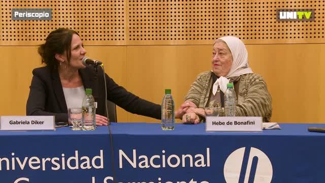 Hebe de Bonafini junto a Gabriela Diker
