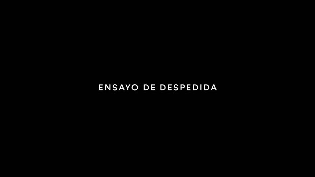 Ensayo de despedida (2016)